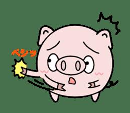 Cute pig Buhimaru sticker #756711