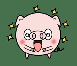 Cute pig Buhimaru sticker #756717
