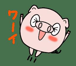 Cute pig Buhimaru sticker #756719