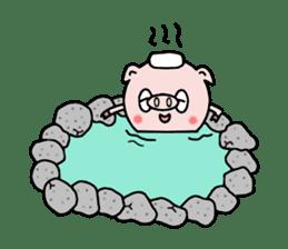 Cute pig Buhimaru sticker #756730