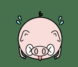 Cute pig Buhimaru sticker #756734