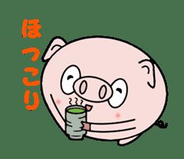 Cute pig Buhimaru sticker #756739