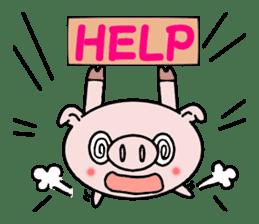 Cute pig Buhimaru sticker #756741