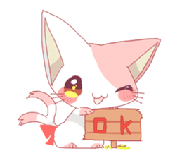 neko mata sticker #756866