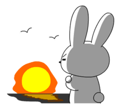 cute rabbits sticker #758087