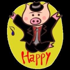 Hard-boiled pig
