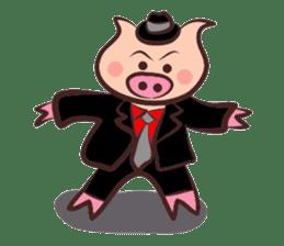Hard-boiled pig sticker #759183