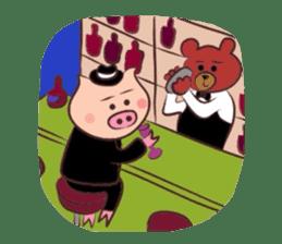 Hard-boiled pig sticker #759185