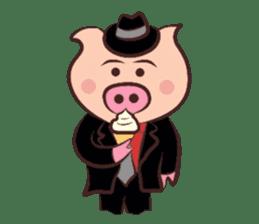 Hard-boiled pig sticker #759186