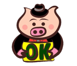 Hard-boiled pig sticker #759187