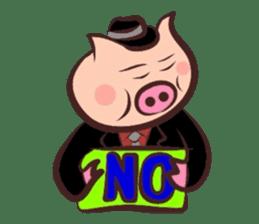 Hard-boiled pig sticker #759188