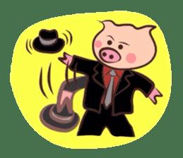 Hard-boiled pig sticker #759193