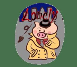 Hard-boiled pig sticker #759196
