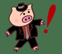 Hard-boiled pig sticker #759203