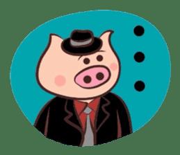 Hard-boiled pig sticker #759204