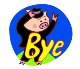 Hard-boiled pig sticker #759205