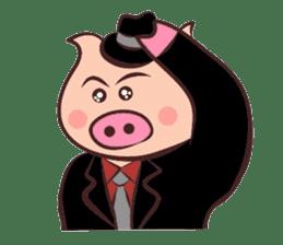 Hard-boiled pig sticker #759211