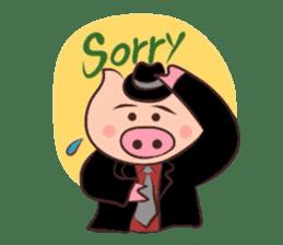 Hard-boiled pig sticker #759213
