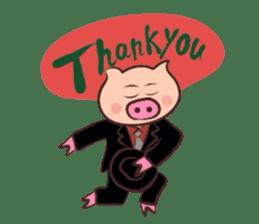 Hard-boiled pig sticker #759214