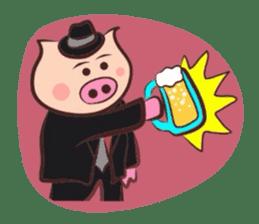 Hard-boiled pig sticker #759215