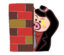 Hard-boiled pig sticker #759217