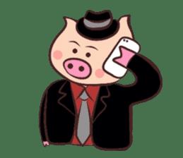 Hard-boiled pig sticker #759218