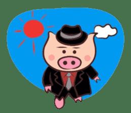 Hard-boiled pig sticker #759219