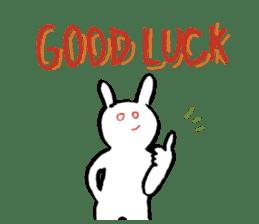 Mr. White Rabbit sticker #760004