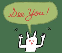 Mr. White Rabbit sticker #760005
