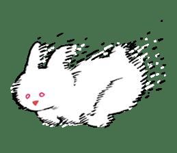 Mr. White Rabbit sticker #760008