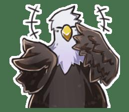 Bald eagle sticker #761319