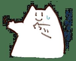 The white cat sticker #764107