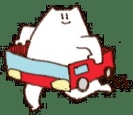 The white cat sticker #764109