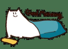 The white cat sticker #764114
