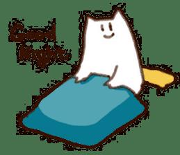 The white cat sticker #764115