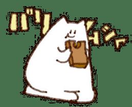 The white cat sticker #764118