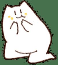 The white cat sticker #764119