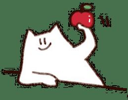 The white cat sticker #764120
