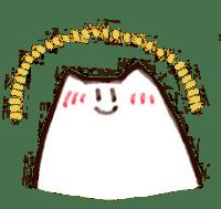 The white cat sticker #764122