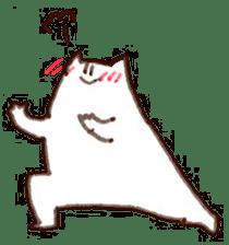 The white cat sticker #764123