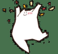 The white cat sticker #764125