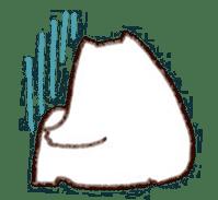 The white cat sticker #764126