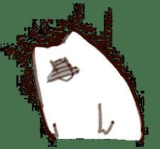 The white cat sticker #764129