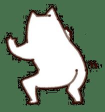 The white cat sticker #764131