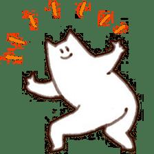 The white cat sticker #764132