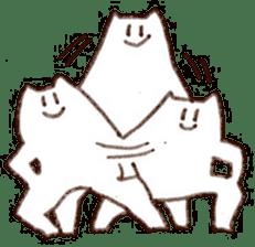 The white cat sticker #764135