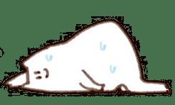 The white cat sticker #764140