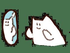 The white cat sticker #764141