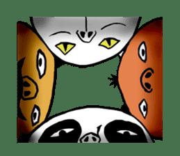 surreal animal of the uta sticker #764575