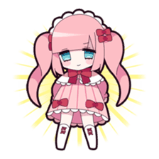 Twin tail & Straight bangs girl Sticker! sticker #765086